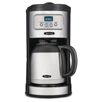 BELLA Classics 10 Cup Programmable Coffee Maker with Thermal Carafe, Stainless Steel