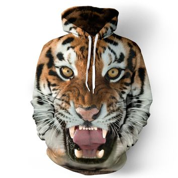 Skateboarding Hoodies 3d Tiger head digital printing  Men/Women Hoodies Funny Hooded Thin Unisex Hoody Pullovers Tops