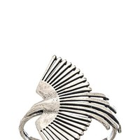 TORCHLIGHT Side Thunderbird Cuff in Metallic Silver