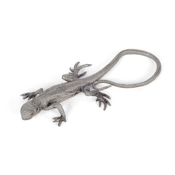 Brushed Pewter Lizard Sculpture