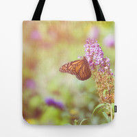 Summer Flutter Tote Bag by Jessica Torres
