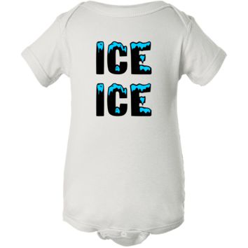 """Ice Ice"" White Creeper Baby Onesuit"
