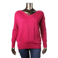 Olivia Sky Womens Plus Wool Blend Knit Pullover Sweater