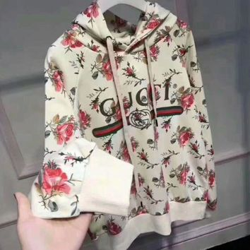 DCCKW2M  Gucci Women Pattern Print Floral Hot Hoodie Cute Sweater