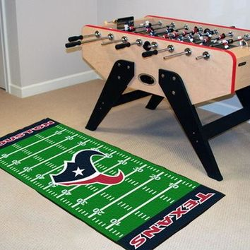 FANMATS Houston Texans Field Runner Mat Area Rug, Man Cave, Bar, Game Room