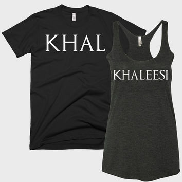 Khal and Khaleesi Couple's Shirts