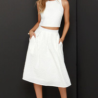 Sweet Sorbet Ivory Two-Piece Midi Dress