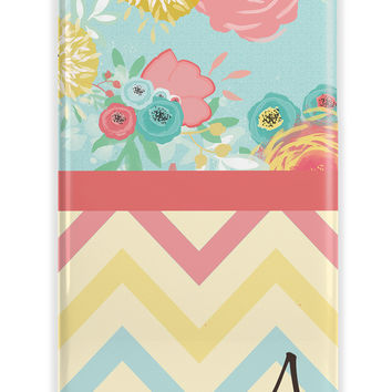 MIXED PATTERNS CHEVRON AND FLORAL – PERSONALIZED IPHONE CASE