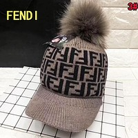 FENDI Winter Hot Sale Fashionable Women Men Jacquard Knit Warm Hat Cap 3#