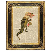 Alligator Mardi Gras Costume Art Print