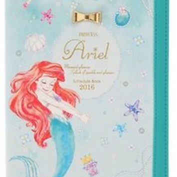 Princess Ariel 2016 Schedule Book Weekly Diary School ❤ Disney Store Japan New