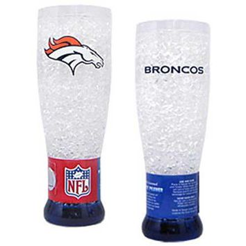 Denver Broncos NFL Crystal Pilsner Glass