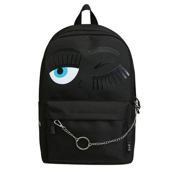 School Backpack Big Eyes Cute Cartoon School Bags For Teens College Backpack School bags Primary kids  students school bag AT_48_3
