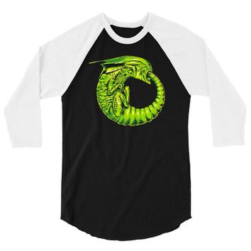 alien ouroboros 3/4 Sleeve Shirt