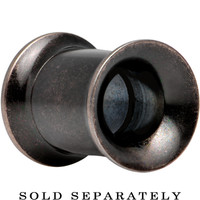 0 Gauge Antiqued Gunmetal PVD Screw Fit Tunnel Plug | Body Candy Body Jewelry