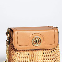 Tory Burch 'Mini' Lacquered Rattan Crossbody Bag | Nordstrom