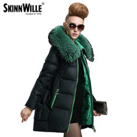 skinnwille parkas for women winter  jacket 2016 fur coat long down jacket duck down jacket women women's winter coats down coat