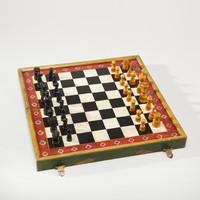 Painted Elephant Wood Chess Set - World Market