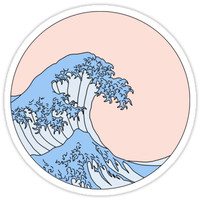 'Aesthetic Wave' Sticker by Emily G.