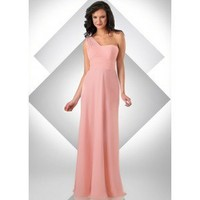 A-Line One-Shoulder Floor-Length Chiffon Prom Dress SAL1051