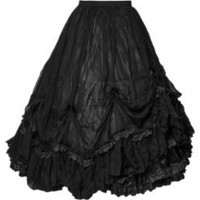Desolate Dominion - long gothic skirt by Sinister Clothing