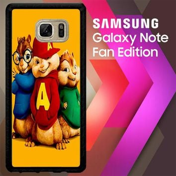 Alvin And The Chipmunks Character V 2074 Samsung Galaxy Note FE Fan Edition Case