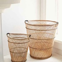 4040 Locust Rattan Trash Can