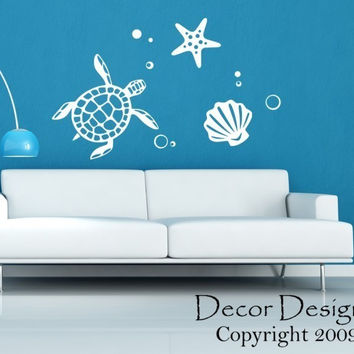 Sea Turtle Vinyl Wall Decal Sticker