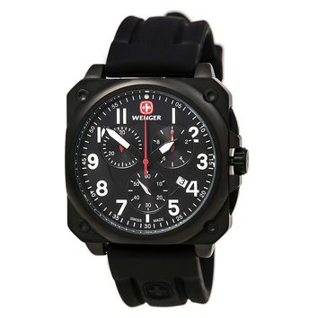 Wenger Men's Swiss Made AeroGraph Cockpit Chronograph 77010
