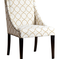 Abbyson Living Hazel Lattice Swoop Dining Chair - Gold