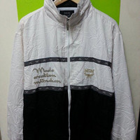Rare MCM O.T.C Made Creation Munchen Embroidered PullOver Parka Jackets Designer Made In Japan