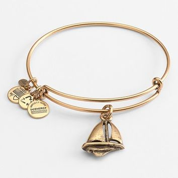 Women's Alex and Ani Sailboat Expandable Wire Bangle