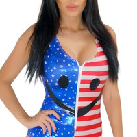 Fourth of July Flag Bodysuit