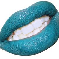 Blue Green Lipstick Semi-Matte Turquoise-Aquatic-In Tube