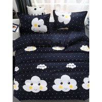 Cloud & Striped Print Sheet Set