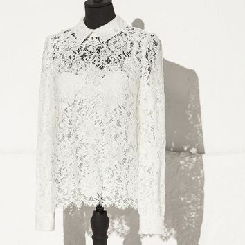 Rebrode floral lace blouse | dolce&gabbana online store