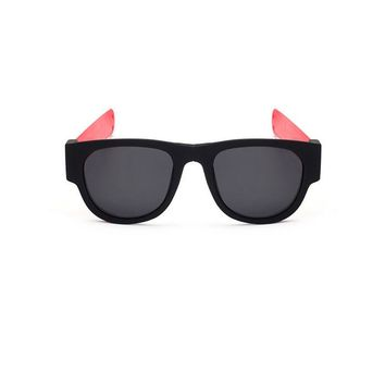 UV400 Foldable Rubber Snap Arms Sports Sunglasses