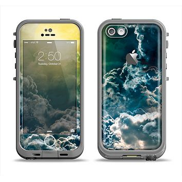 The Bright Sun Over Cloud-Magic Apple iPhone 5c LifeProof Fre Case Skin Set