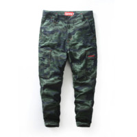 Tide brand Supreme men 's casual pants camouflage pants male trousers jogging pants Camouflage