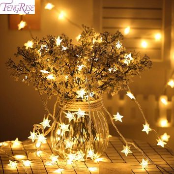 FENGRISE 3M 20LED Star Light String Wedding Decoration Valentine Decor Birthday Gift Bachelorette Party Supplies