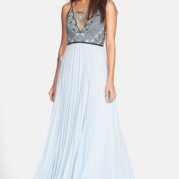 Women's Free People 'Belle of the Ball' Scallop Bodice Maxi Dress,