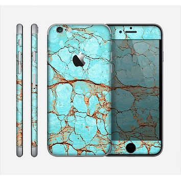 The Cracked Teal Stone Skin for the Apple iPhone 6