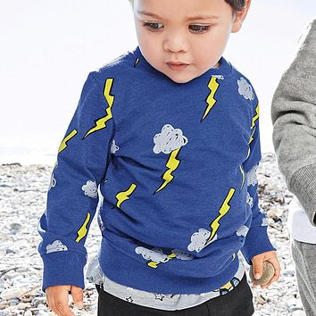 Baby Boys T shirt Children Clothing Clothes Boys Long Sleeve Tops Appliques Kids T-shirts for Boy Sweatshirt