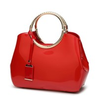 New Arrival Fashion Women Evening Bag Handbag Patent Leather Women's Bags Red Color Bridal Party Bag Handbags High Quality Sg13