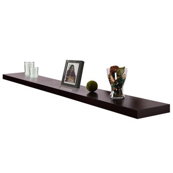 "New 4ft Venice Black Floating Wall Shelf  48""x9""x 2"" Set Kit"