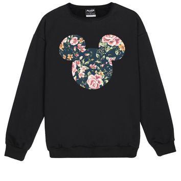 MICKEY FLORAL SWEATER