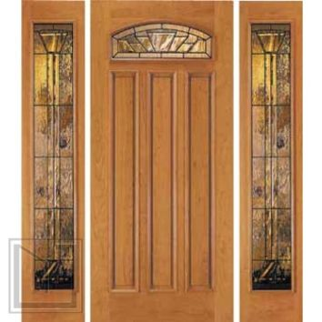 jeld-wen 460 Cherry Door and Sidelights Clear Finish