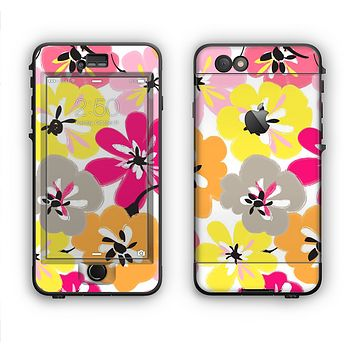 The Bright Summer Brushed Flowers  Apple iPhone 6 LifeProof Nuud Case Skin Set