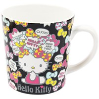 Hello Kitty Black Mug Cup