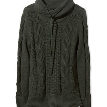 Women's Signature Cotton Funnelneck Fisherman's Sweater | Free Shipping at L.L.Bean